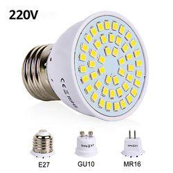 E27 LED Ampoule GU10 LED Lampe 220 V SMD 2835 MR16 Spotlight 48 60 80 Led Blanc Chaud Blanc Froid Lumières pour La Maison Décoration LED Lumière
