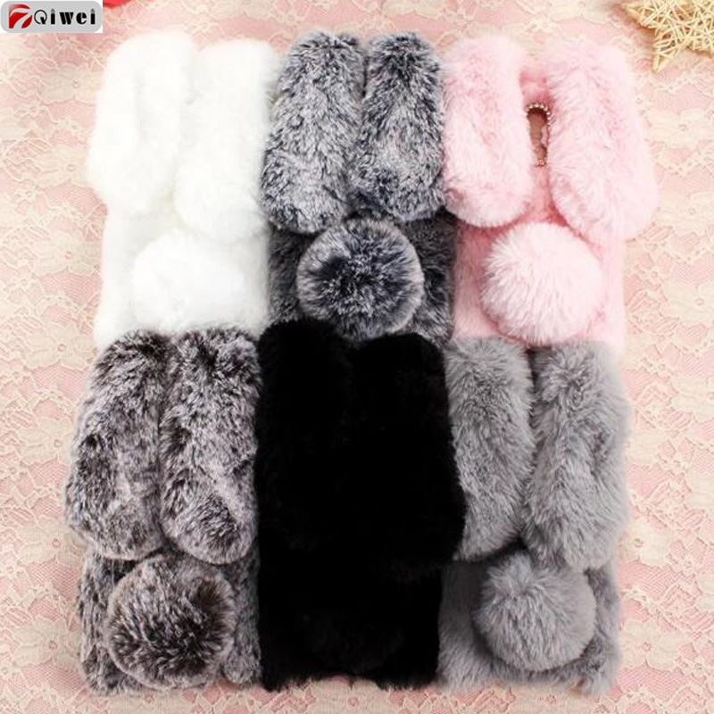 For Xiaomi Redmi Note 4X 32GB Case Cute 3D Rabbit Plush Cover Girls Hairy Fur Fluffy Phone Cases For Redmi Note 4 Global Version