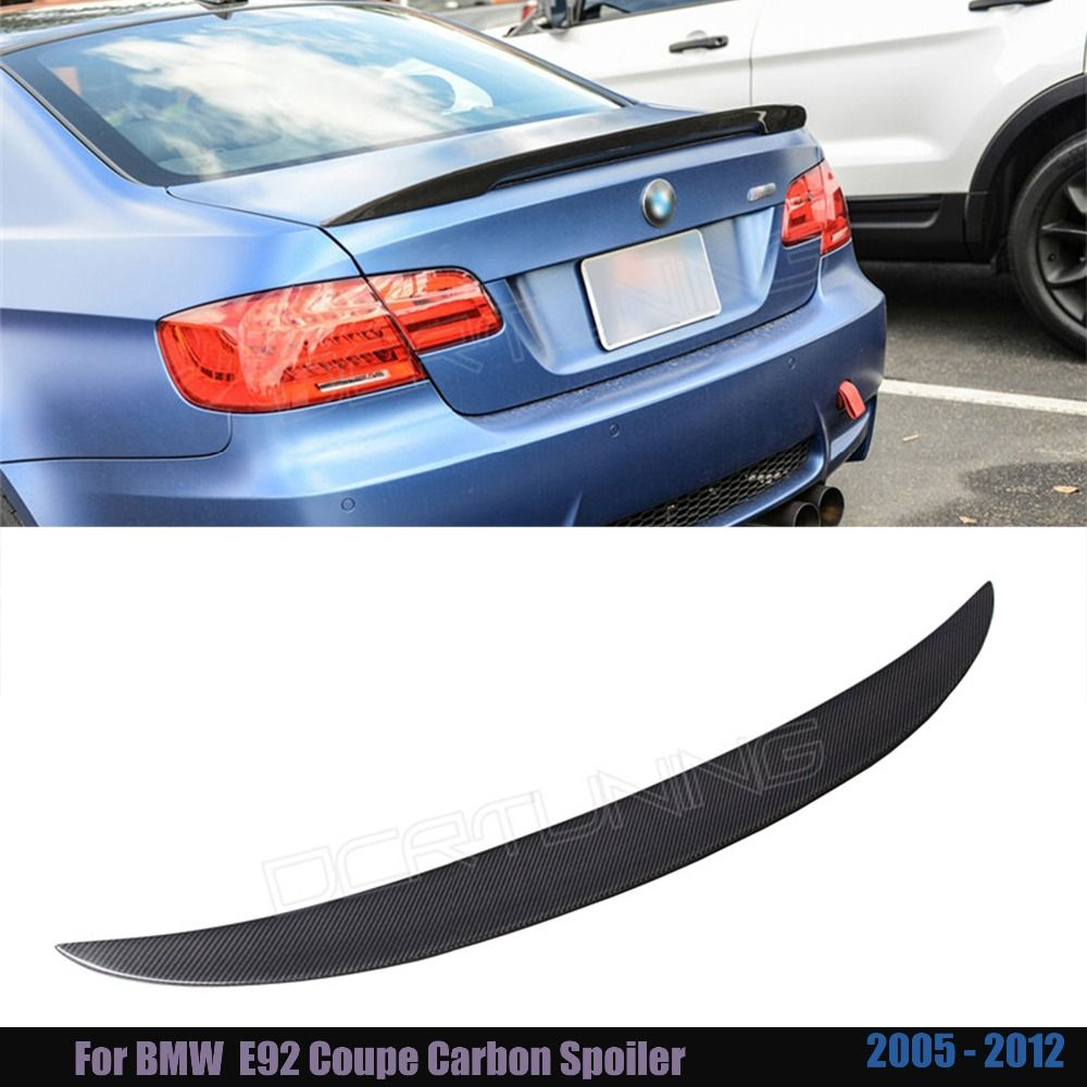 P Style For BMW E92 Spoiler 3 Series 2 Door E92 M3 & E92 Coupe Carbon Spoiler Performance Style 2005 - 2012