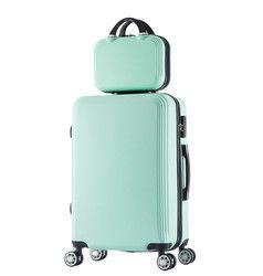 2 pcs/ensemble pouces cosmétique sac 20 pouce étudiants Voyage bagages chariot cas une femme roulant valise valise bagages roulettes