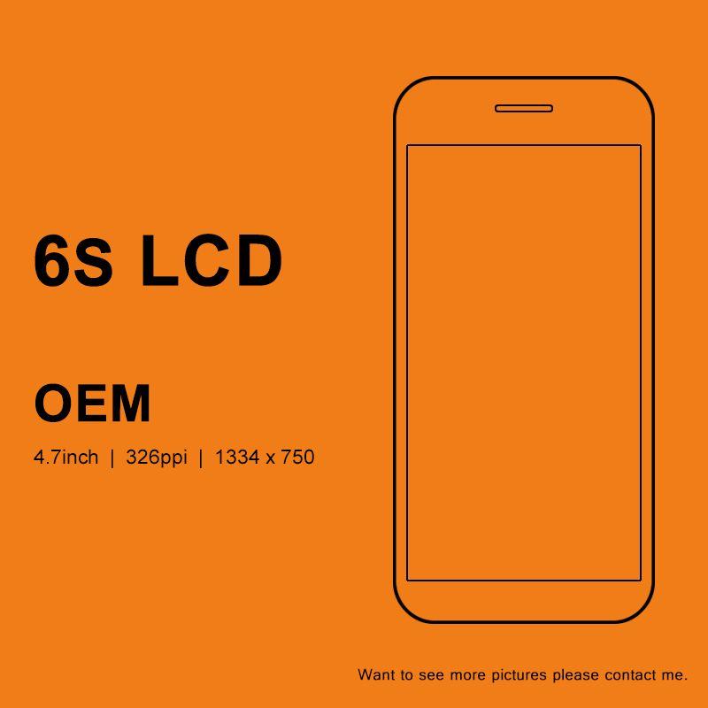 5 pièces OEM qualité pour iphone 6 S LCD 4.7 pouces écran d'affichage avec tactile numériseur assemblée avec 3D tactile pour iphone 6 S écran