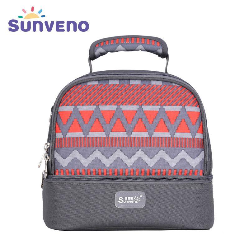 SUNVENO сумка термос Детские органайзеры изолированная сумка сохранять тепло обеспечивать Детские питание свежий термос для еды