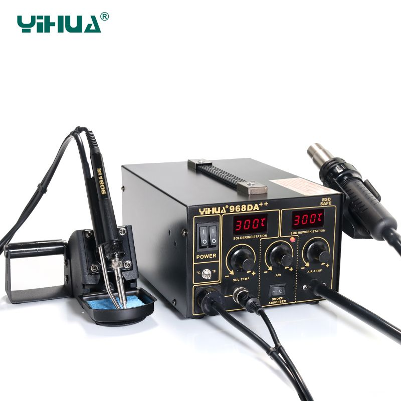 YIHUA 968DA++ Electronic Cell Phone 3 In1 Soldering , PCB / IC Rework Station 720W 220V