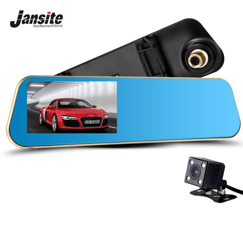 Jansite Newest Car Camera Car Dvr Review Mirror Dash Cam Digital Video <font><b>Recorder</b></font> Auto Registrator Camcorder Full HD 1080P Camera
