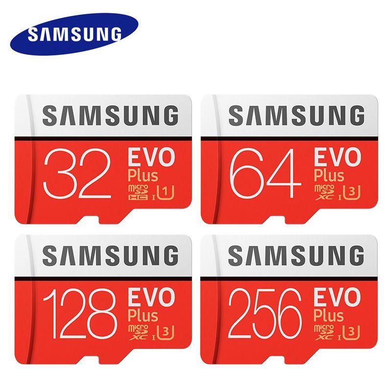 Original Samsung micro tarjeta SD 32 GB 64 GB Clase 10 memoria Evo + Evo más microSD 128 GB 256 GB TF tarjeta SDXC Cartao de memoria