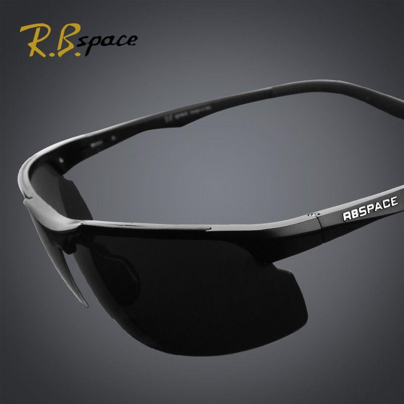 Lunettes de soleil à revêtement polarisé homme RBspace miroir de conduite lunettes de vision nocturne à gradation de nuit et de jour lunettes de soleil polarisées homme