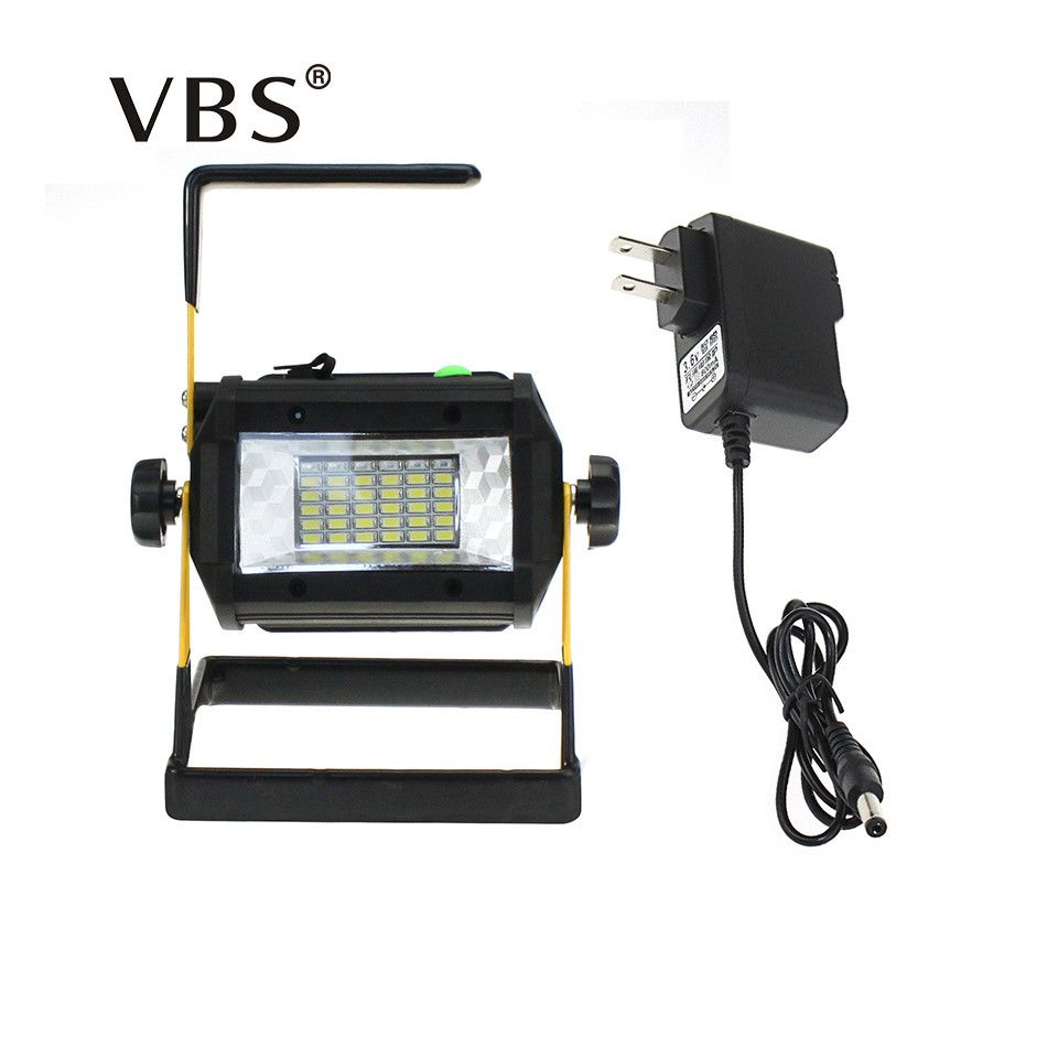 Rechargeable Led Portable Spotlight 36LEDs Floodlight Movable Outdoor Camping Light Grassland Lamp Power from 4*18650 Batteries