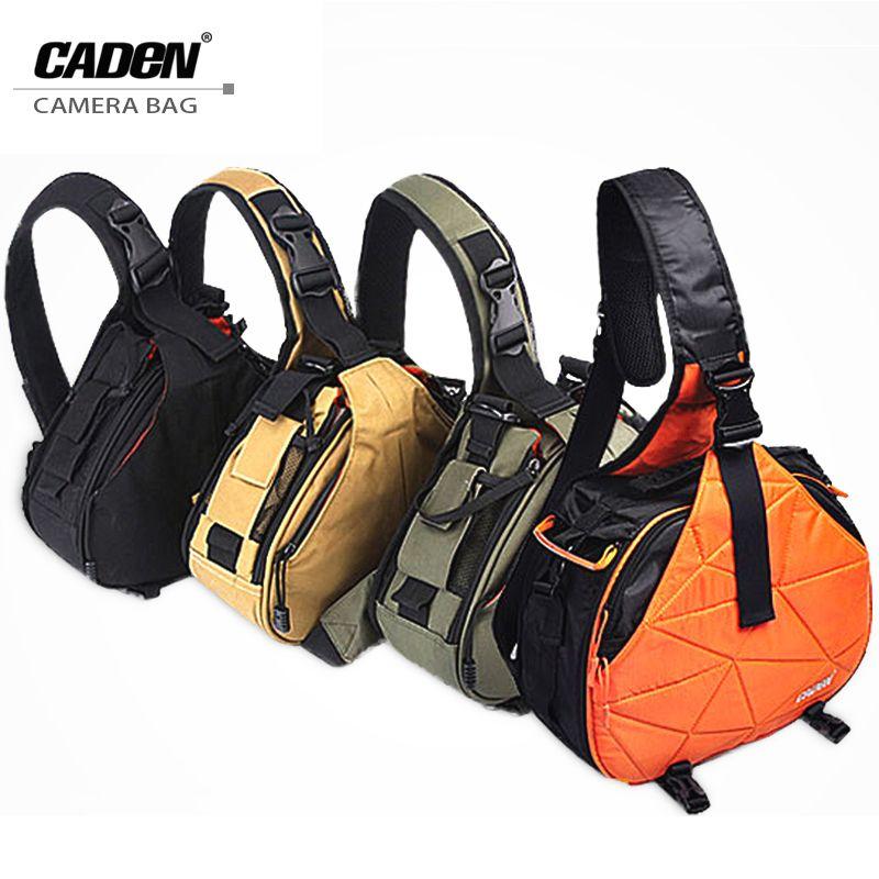 Caden Shoulder Camera Photo Bags Backpack Orange Black Khaki Digital Camera Case Sling Canvas Soft Bag For Canon Nikon New K1 K2