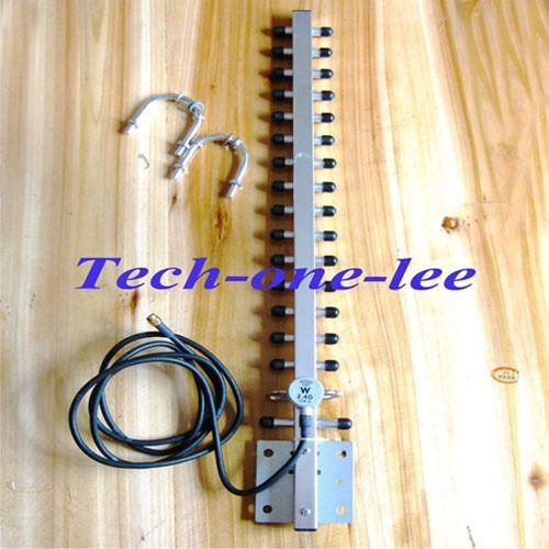 2.4 Ghz WiFi Antenne 25dbi RP SMA mâle WLAN 2.4g Yagi antenne 145 cm câble pour Répéteur de Signal amplificateur