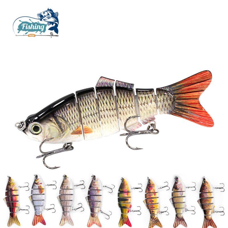1 pièces leurre de pêche Multi Jointé Dur Appât 10 cm 19.3g Réaliste commune appâts Wobblers 6 Segments Swimbait De Pêche leurre crankbait