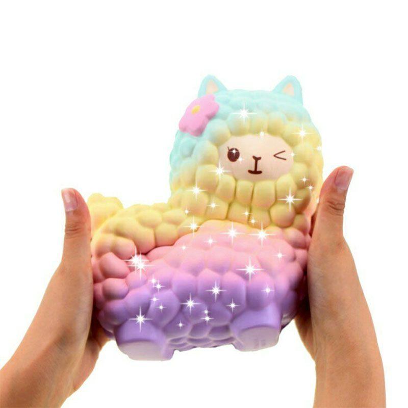 Jumbo 16.5 CM Squishies Alpaca Squishy Slow Rising Phone Straps Phone DIY Accessories Kid Toy Wholesale