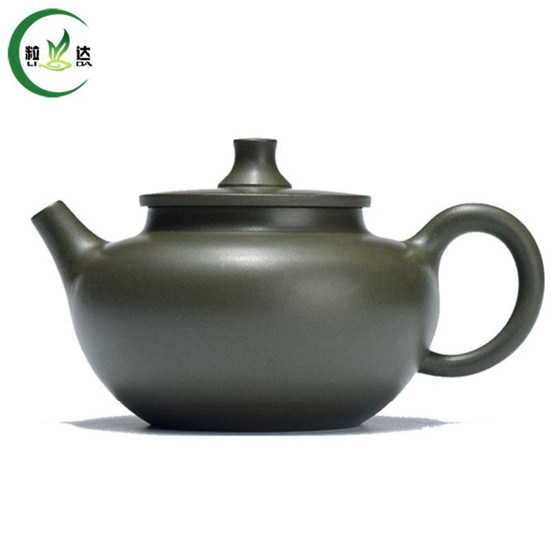 230ml Handmade Jiangsu Yi Xing Green Mud Yu Pan Purple Clay Teapot Green Tea Kettle Tea Teapot