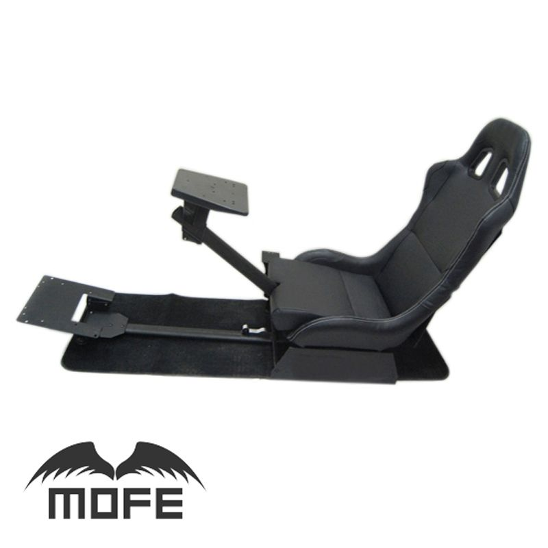 Mofe With Support of Steering Wheel Pedal & Gear Shift Holder Folding Simulator Cockpit Racing Seat for Logitech G27 G29