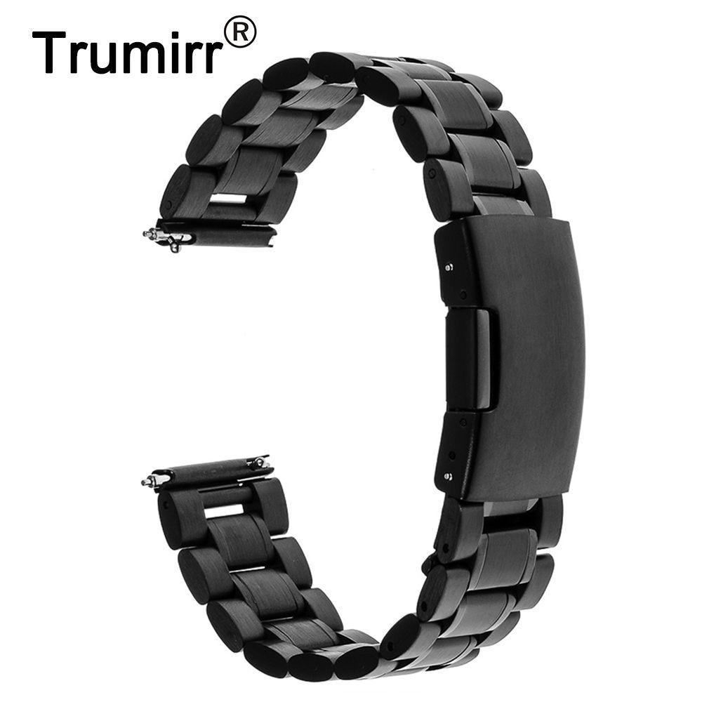 22mm Bracelet En Acier Inoxydable Libération Rapide pour LG G Montre W100 R W110 Urbain W150 Asus Zenwatch 1 2 Hommes Bracelet Bracelet Lien