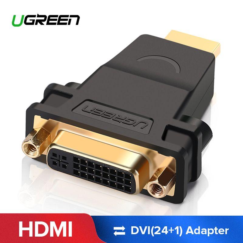 Ugreen HDMI auf DVI Stecker auf Buchse Konverter Adapter 1080 p Stecker für HDTV DVD Projektor HDMI auf DVI Adapter DVI 24 + 5 zu HDMI