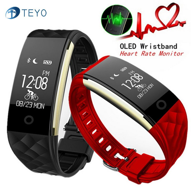 Teyo Smart Bracelet S2 Heart Rate Monitor Fitness Bracelet Fitbit Smart Wristband <font><b>Waterproof</b></font> Smart band For Android and IOS