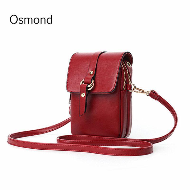 Osmond Bolsa Feminina Mini petit sac à bandoulière femmes PU cuir rabat téléphone sacs dame sac à main sac à bandoulière sac à bandoulière pochette