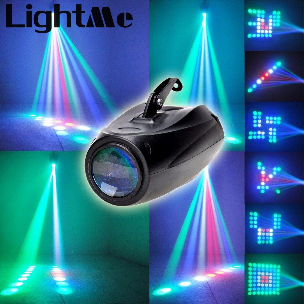 AC 90-240 V 10 W 64 LEDs RGBW Etapa Patrón luz activada por Voz Auto Proyector de Iluminación Perfecta Para Disco Club KTV partido