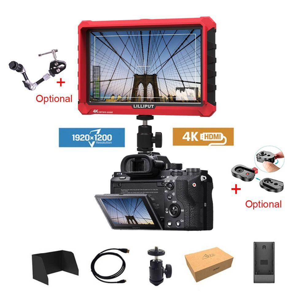 Lilliput A7S 7 Inch Utra Slim IPS Full HD 1920x1200 4K HDMI On-camera Video Field Monitor for for ZHIYUN Crane 2/DJI RONIN S