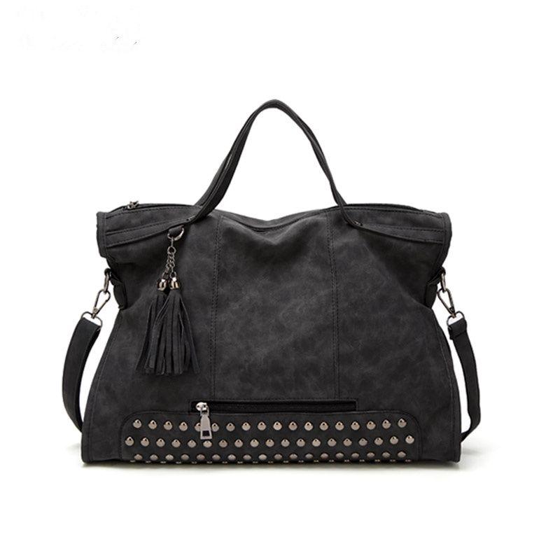 Bolish Women Vintage Bolsa Feminina Female High Capacity Tassel Crossbody Bag Lady All-Purpose Style Daily Shopping Handbag