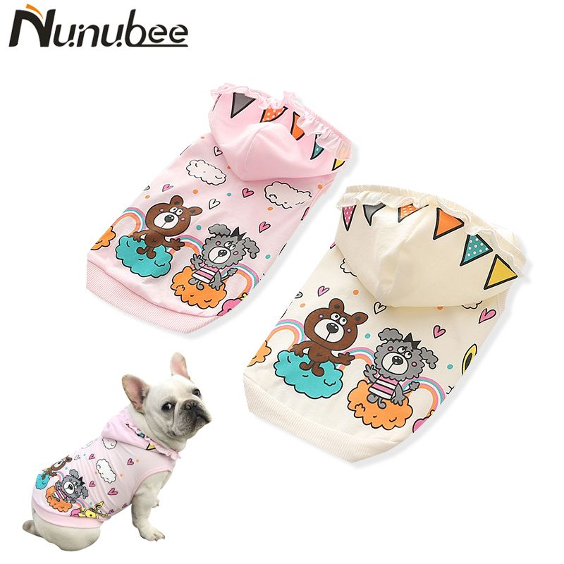 Nunubee Dog Clothes Pet hoodie Puppty Cat Jacket Coat Cartoon Winter Soft Sweater Clothing for bulldogs Dogs Chihuahua XS-XXXL