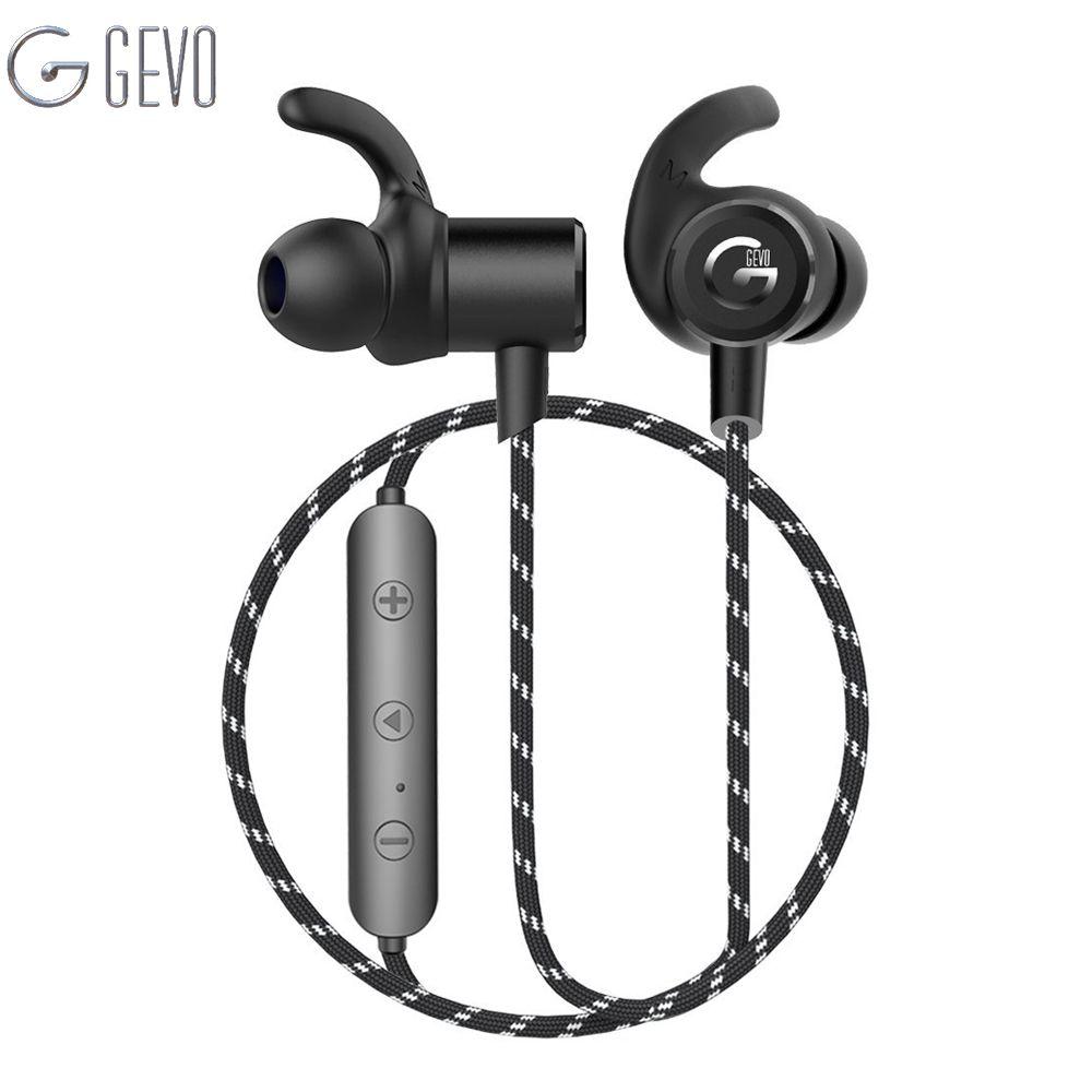 GEVO GV-18BT Wireless Headphone Bluetooth Sport In ear Magnetic Stereo Bass Waterproof <font><b>Headset</b></font> Earbuds Earphone For Xiaomi Phone