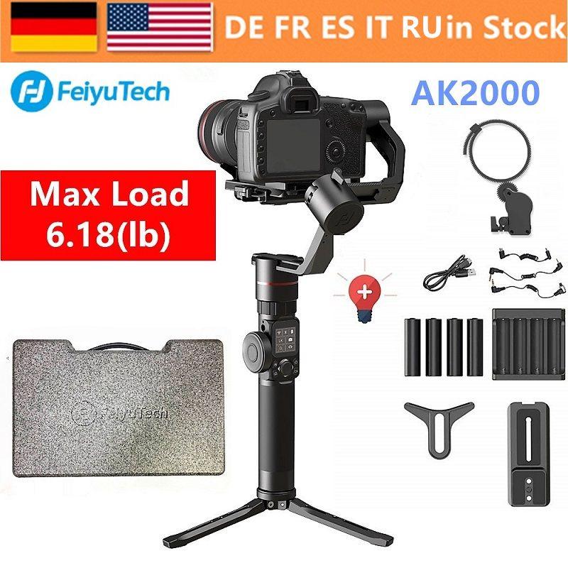 FeiyuTech Feiyu AK2000 3-Achse Handheld Kamera Stabilisator Gimbal für Sony Canon 5D 6D Mark Panasonic GH5 Nikon D850 2,8 kg Payloa