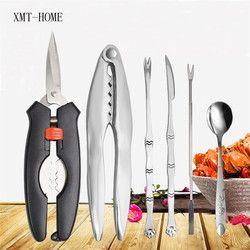 XMT-HOME picks sendok pisau set kerang kepiting kerupuk Seafood lobster tang alat dapur picknic BBQ peralatan dapur