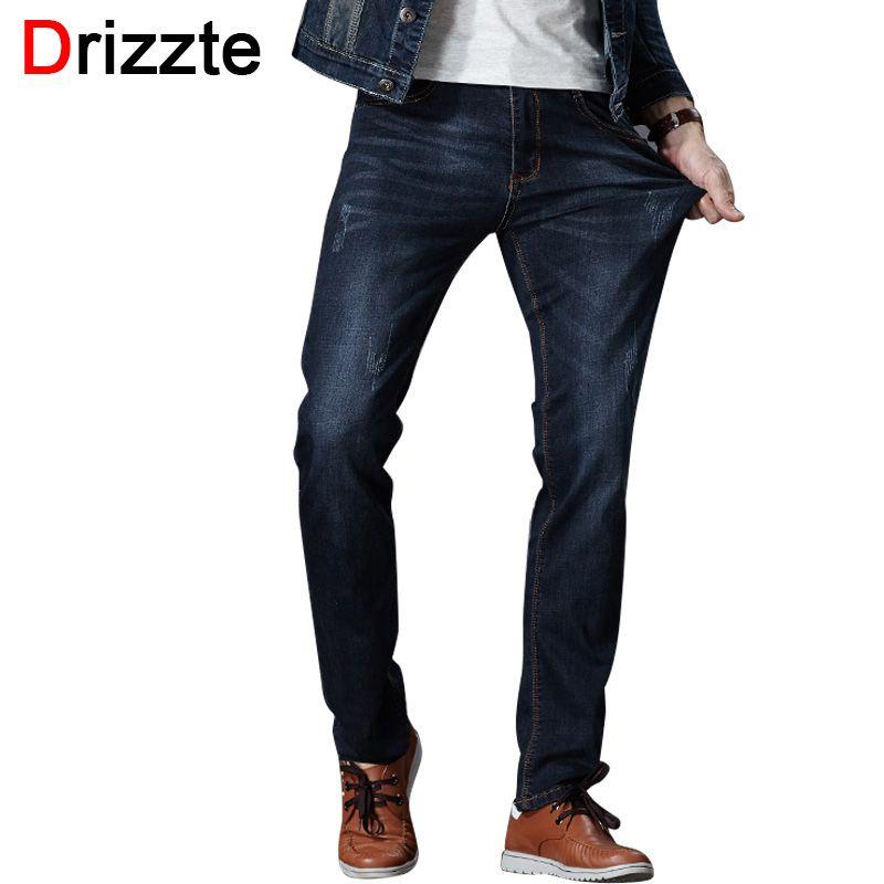 Drizzte Hommes Jeans Stretch Denim Jean Plus La Taille 32 34 35 36 38 40 42 44 46 Pantalon Pantalon Designer slim Fit Jeans Pour Hommes