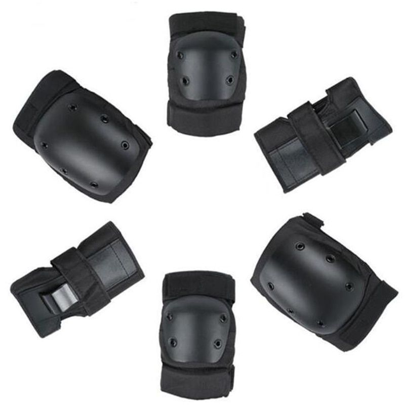 S M L size Kids Adults Sports Protective Wrist Knee Elbow Pads for Children Skating Outdoor Cycling Skateboard Anti Injury Kit