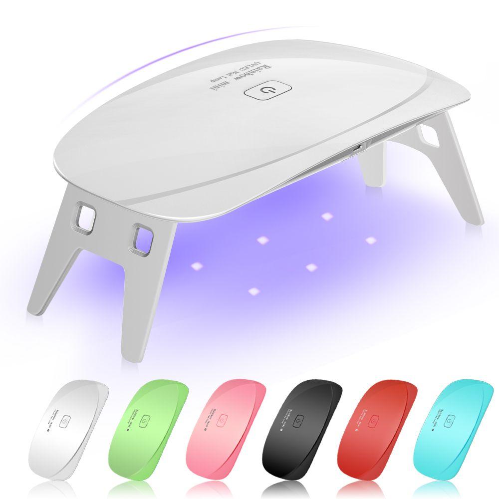 5 Вт LED УФ Сушилка для ногтей леча свет лампы Портативный для светодиодных УФ-гель Лаки для ногтей USB кабель Дизайн ногтей маникюр педикюр дом...