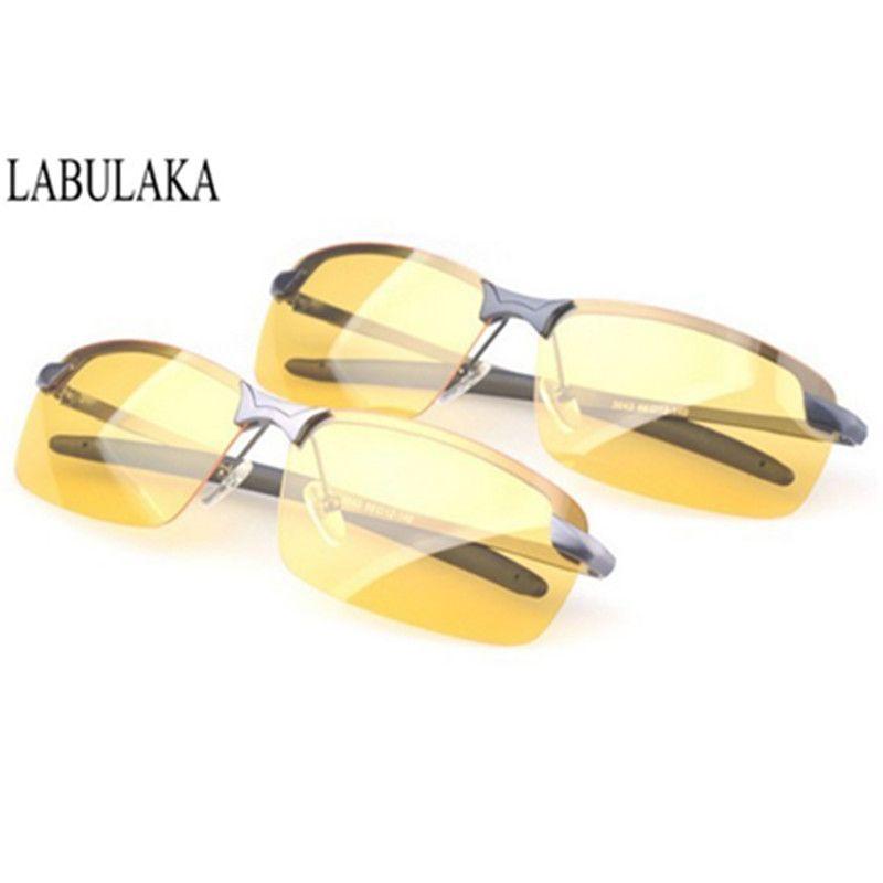 Night Vision Driving Glasses Men Polarized Yellow Sunglasses Driving Sun glasses Polaroid Lens Goggles Anti Glare Safety Glasses