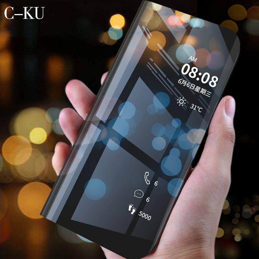 Luxury Flip Stand Smart View Case for Huawei P30 P20 P10 lite Mate 20 10 9 Pro P Smart Plus Nova 3i 3e Lite Y6 Prime Y5 Y9 2018