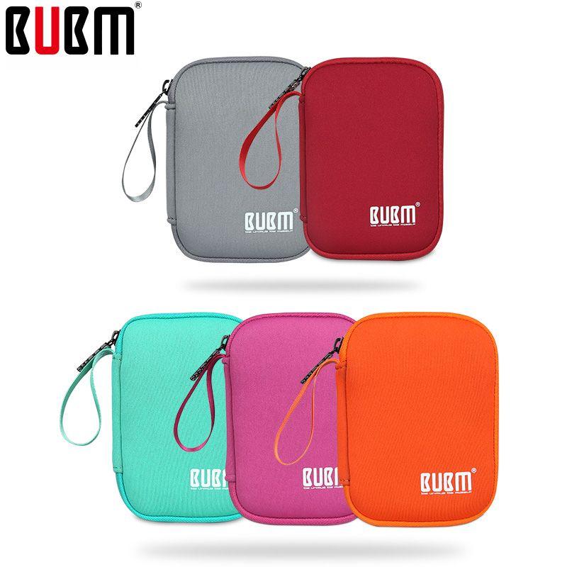 BUBM sac pour poignée sac portable disque dur sac multicolore portable batterie externe sac doux sac à main pour hommes femmes universel
