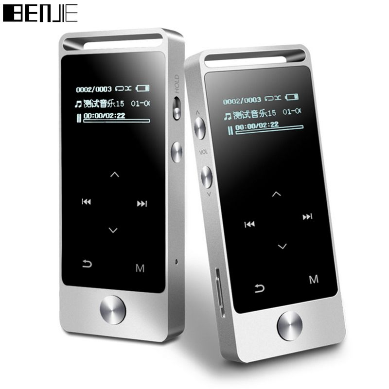 D'origine BENJIE S5 réel 8 gb sans perte HiFi MP3 lecteur de Musique à écran Tactile Haute qualité sonore en métal MP3 E-book FM horloge radio Données