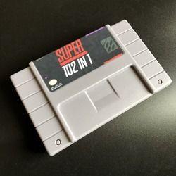 Super 102 en 1 Video Game TMNT IV/Contra III/Mega Man 7/Sonic/Kirby/ mortal Kombat 3 46 PINS tarjeta de juego para juegos NTSC reproductor