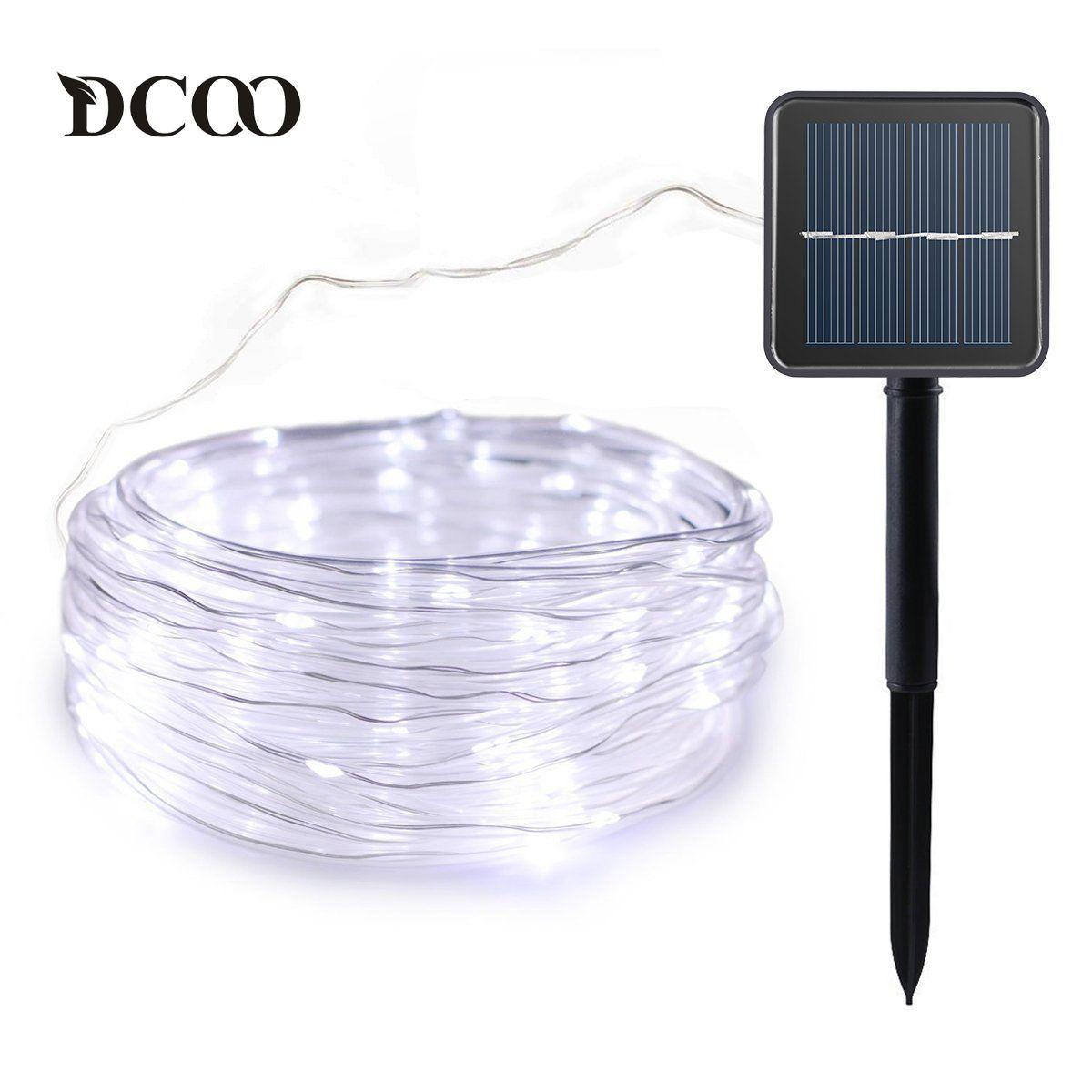 Solar Rope lights 120 LEDs Solar Powered LED <font><b>String</b></font> Lights Outdoor Garden Party Lighting Solar Rope <font><b>String</b></font> Lights Waterproof