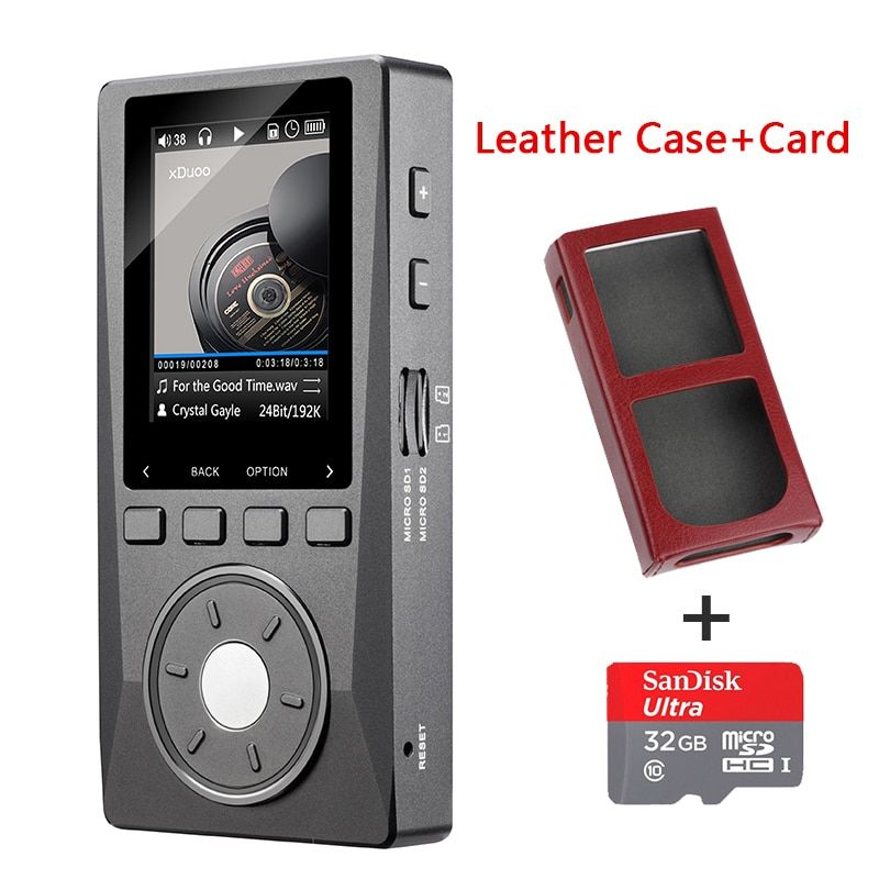 XDUOO X10 Portable High Resolution Lossless DSD Music Player DAP Support Optical Output MP3 Player(32G TF Card+Case)