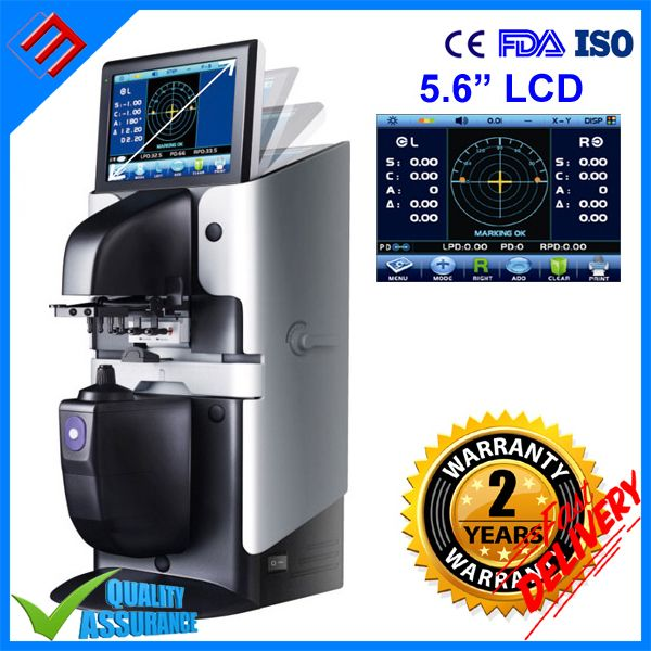 5,6 ''Farbe Touch Screen Auto Digitale Scheitelbrechwertmesser Lensometer Focimeter D903 OPERATE Mit CE FDA