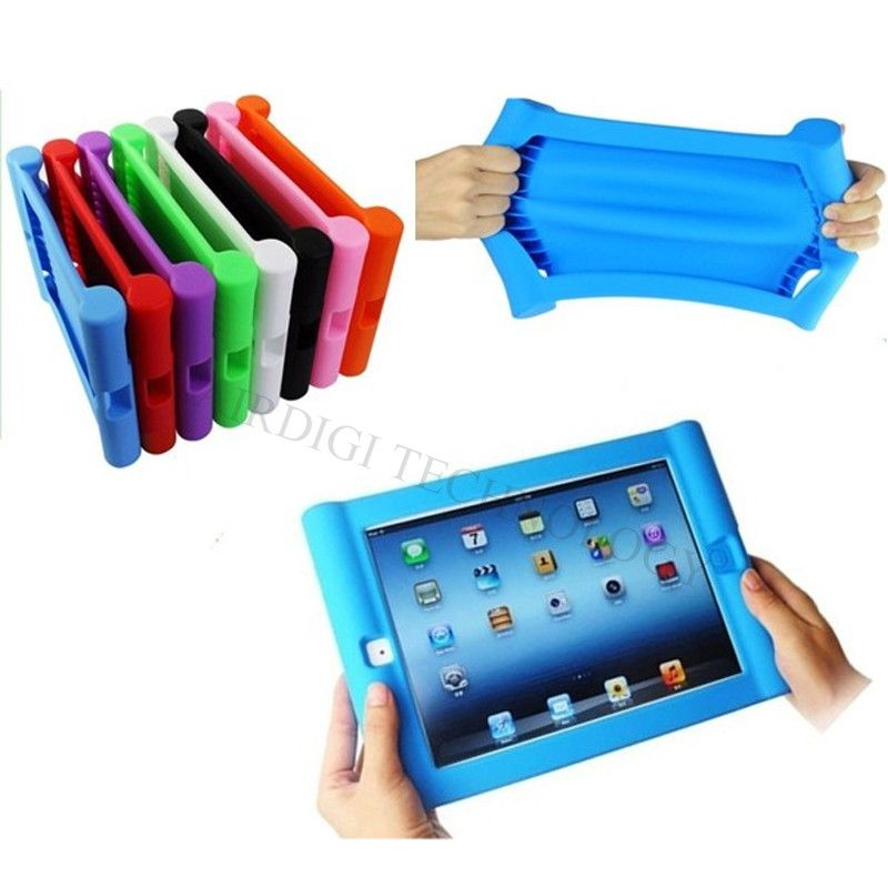 <font><b>Shockproof</b></font> Protective Case for Apple iPad 2/3/4 Silicone Drop Proof Case Cover for Home Children Kids with Free Shipping