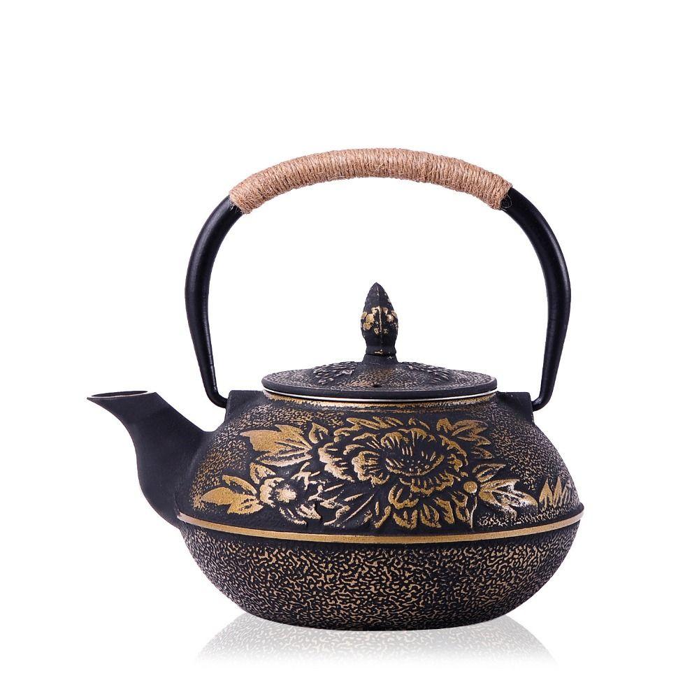 Authentische Gusseisen Teekanne Set Japanischen Teekanne Tetsubin Wasserkocher Drink 900 ml Kung Fu Teesiebe Metall Net Filter Kochen werkzeuge