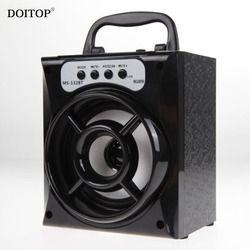 DOITOP LED Bluetooth Wireless Stereo Subwoofer Outdoor Speaker 3D Surround Radio Loudspeaker High Power Speaker Support TF Card