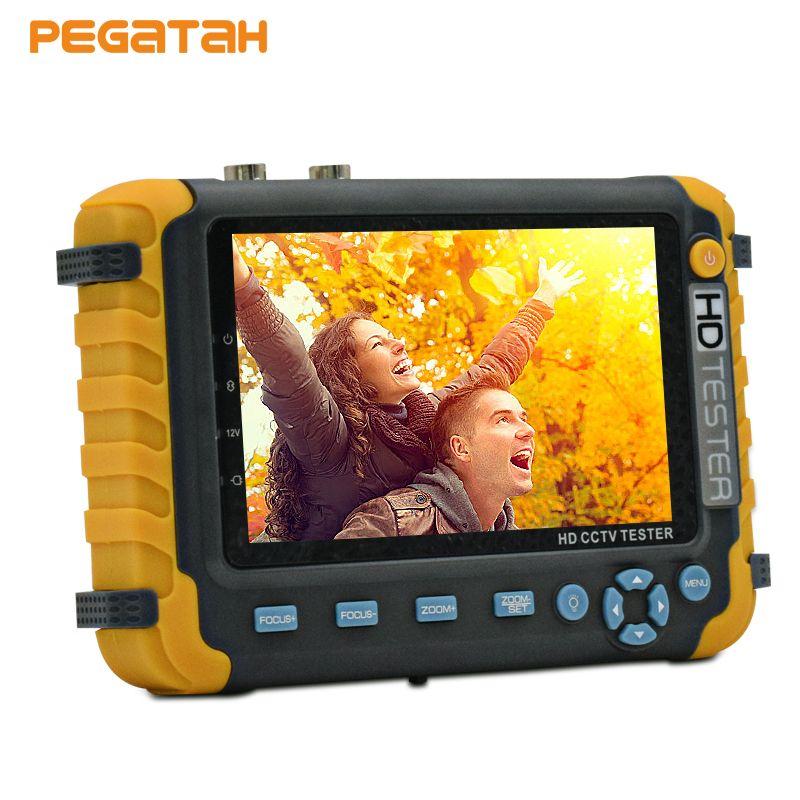 5 inch TFT LCD 5MP 1080P TVI AHD CVI Analog CVBS security Camera CCTV tester monitor Support VGA HDMI input UTP Cable test