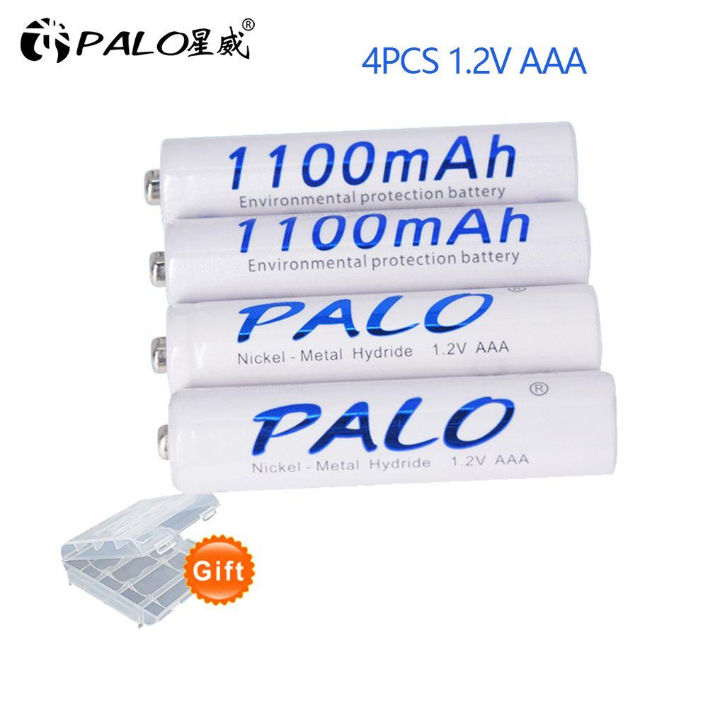 Palo 1100 mAh 1.2 v AAA batterie Rechargeable pour jouet lumineux à LED batterie de Placement et caméra MP3 Mp4 Microphone
