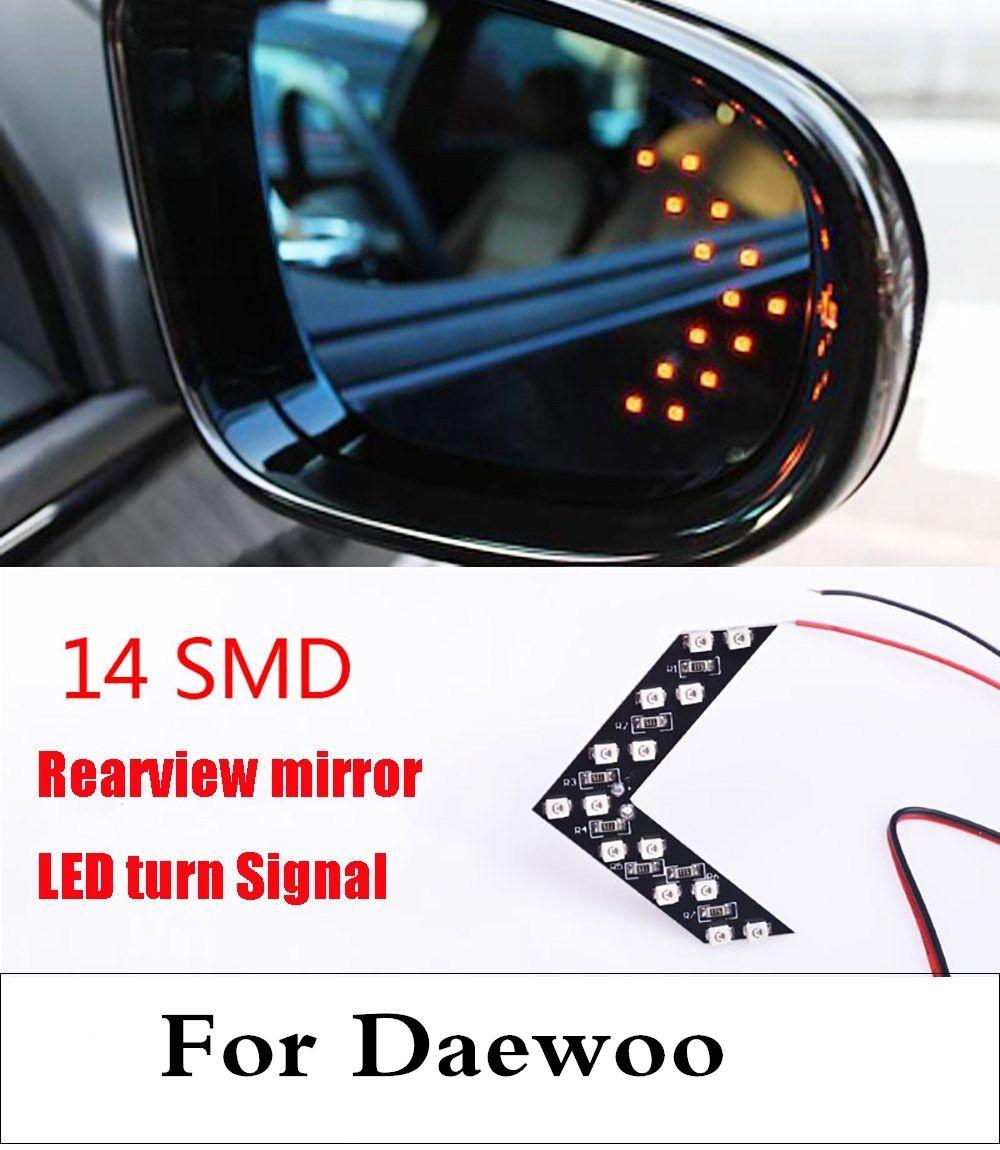 Новый 2017 СИД автомобиля стрелка Панель зеркало заднего вида Индикатор указатель поворота для daewoo matiz nexia Nubira Sens Tosca winstorm