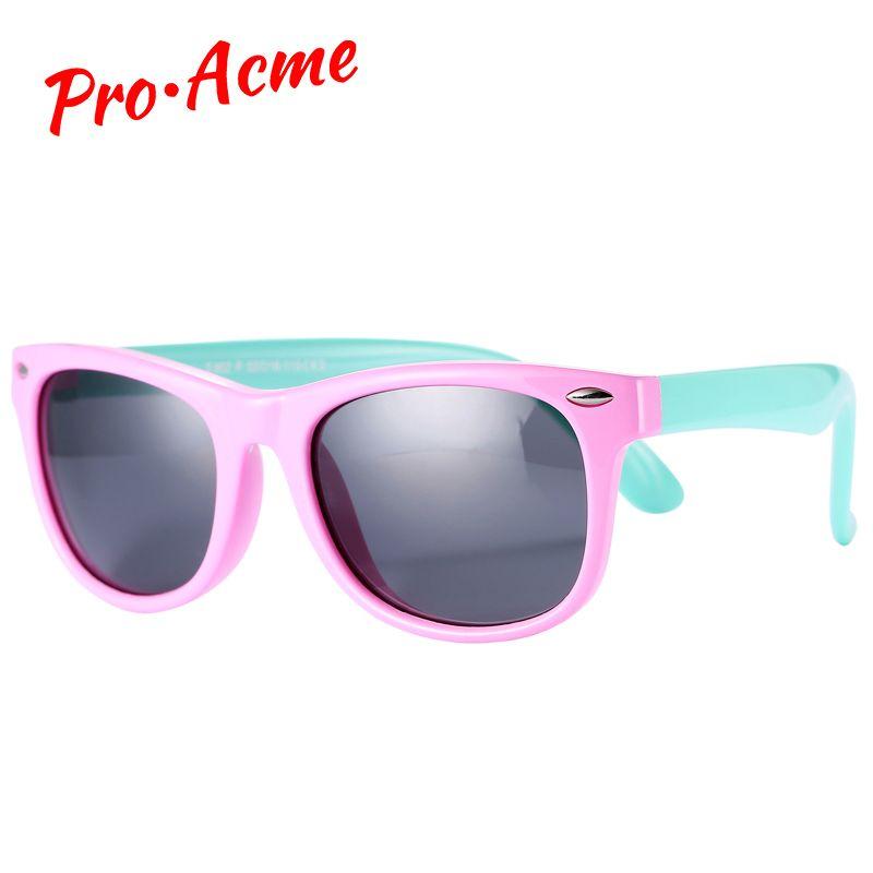 Pro Acme TR90 Flexible Enfants Lunettes De Soleil Polarisées Enfants Sécurité Pour Bébé Revêtement Carré Nuances Infantile lunettes de soleil UV400 Lunettes CC0606