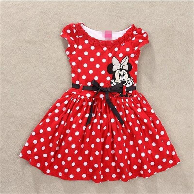 Vêtements fille vestidos roupas infantil meninas vestir vêtements enfant/enfant marque polk dot robes de fête costume minnie