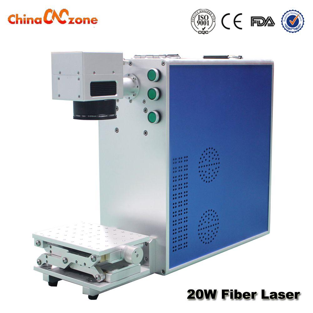 Laser Marking Machine 20W Fiber Optical Metal Engraving Working Area Option 110*110/200*200mm for Metal&Plastic Marking