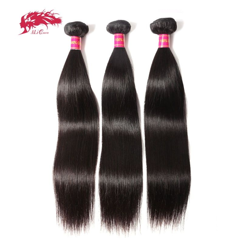 Ali Queen Hair Products 3pcs Lot Natural Color 8
