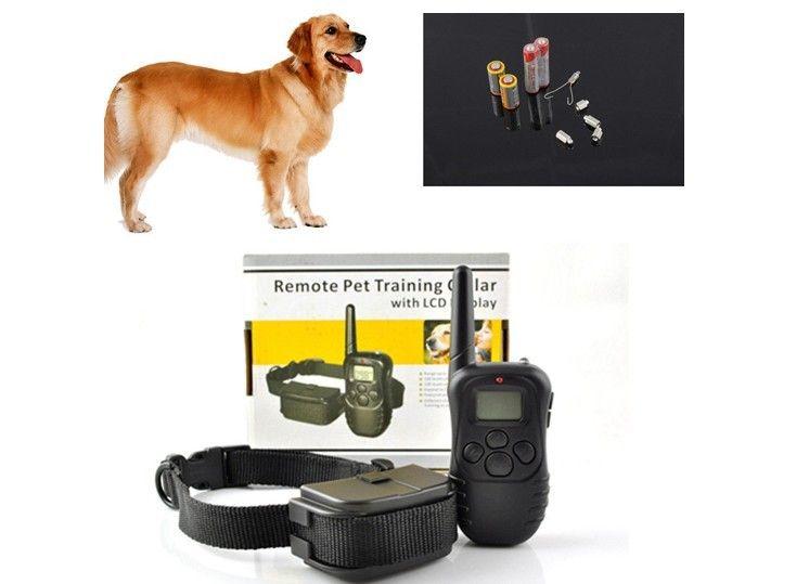 Собака Воротник Обучение 998D 300 м ЖК-дисплей 100LV 300 двор уровня поражения электрическим током вибрации дистанционного без Батарея и в розницу ...